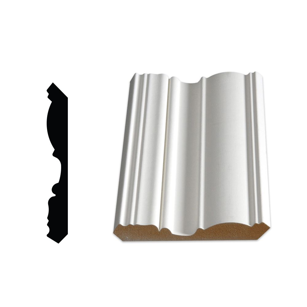 Alexandria Moulding Primed Fibreboard Crown 5/8 In. x 4-1/2 In. (Price per linear foot)