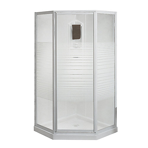 MAAX Cosmos 38-inch 3-Piece Corner Fit Shower Kit in White | The ...