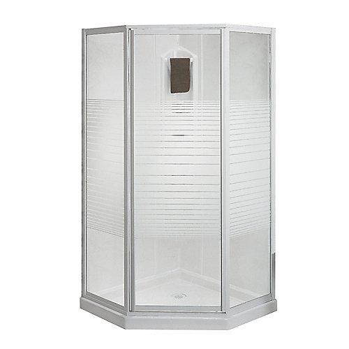 amp breeze base kit shower stalls decors ove w corner walls kits enclosures