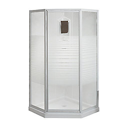 MAAX Cosmos 38-inch 3-Piece Corner Fit Shower Kit in White