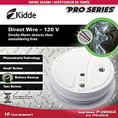 Hardwire Photoelectric Smoke Alarm with Battery Back-up