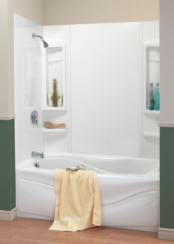 enclosed tub and shower combo. 59  PANAMA Tub Wall Kit Tub Showers The Home Depot Canada