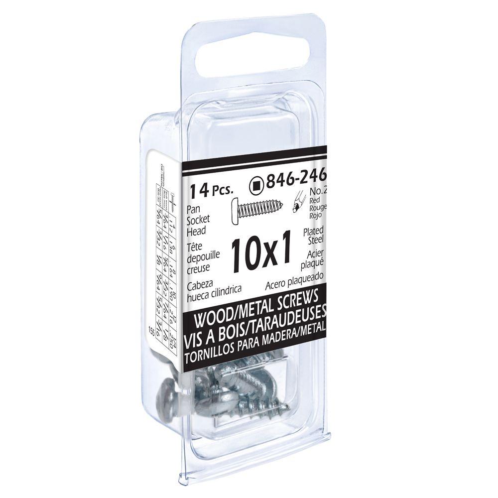 10x1 Pon Soc Wd/Mtl 14Pc Screw