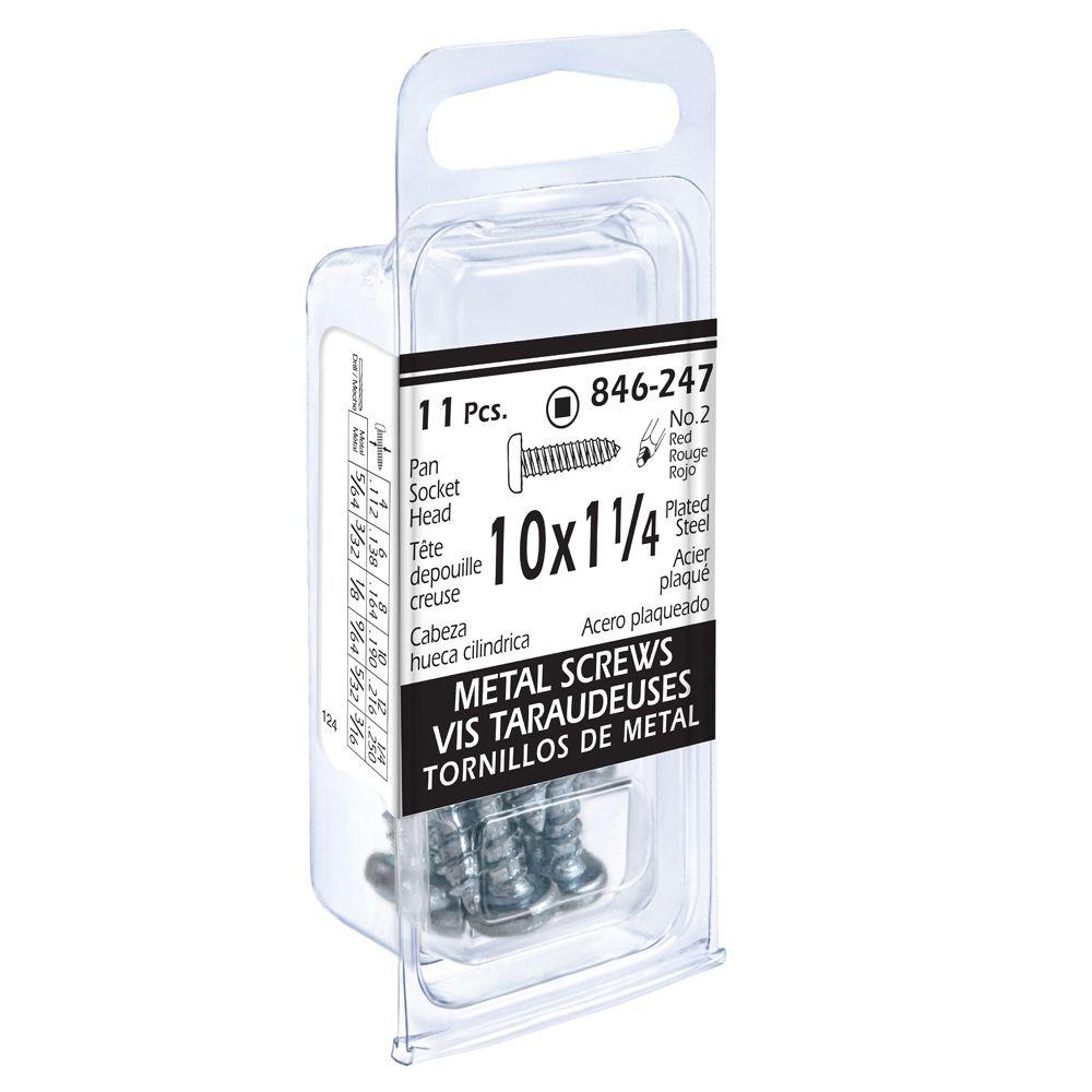 10x1-1/4 Pon Soc 11Pc Metal Screw