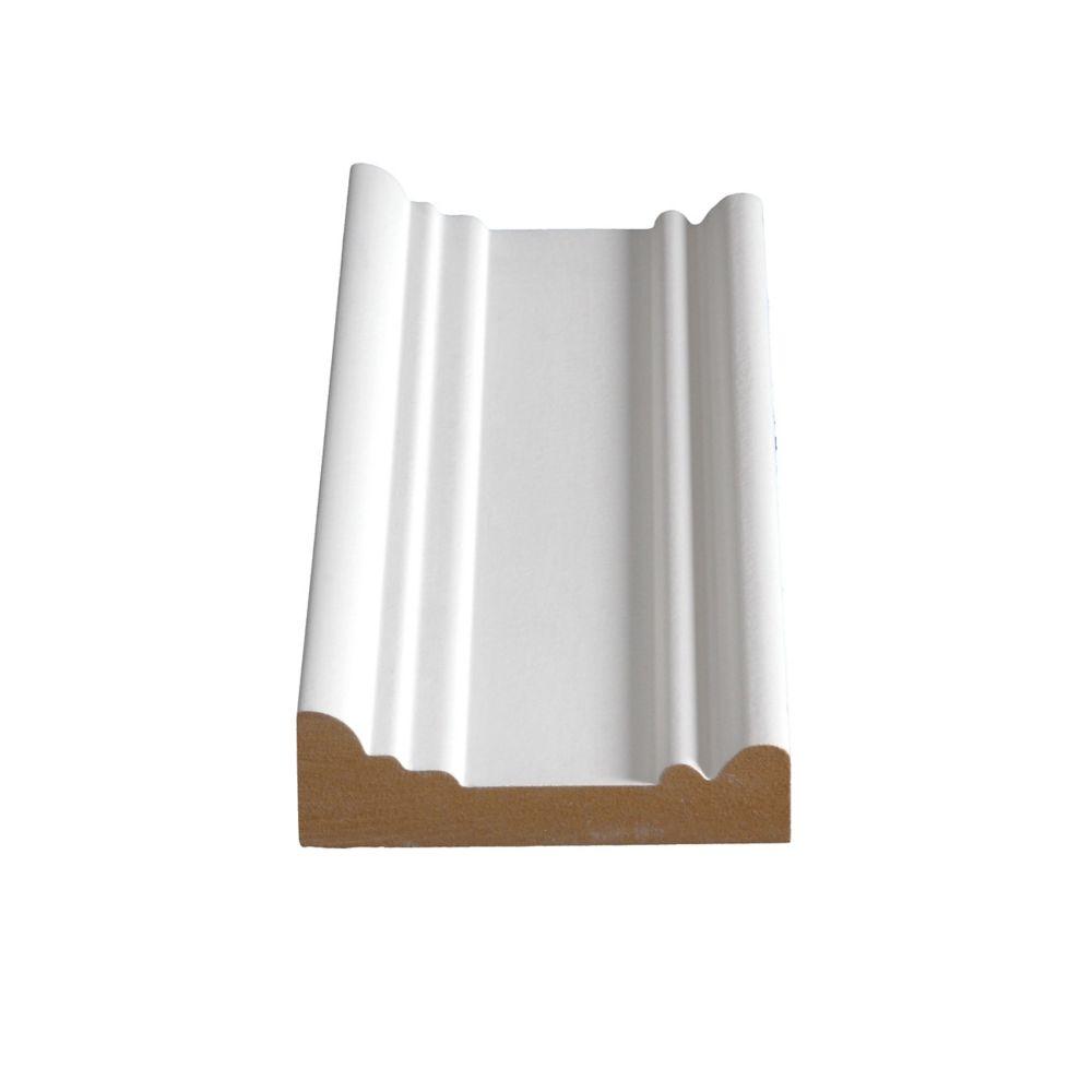 Primed Fibreboard Architrave 1-3/16 In. x 3-3/4 In. (Price per linear foot)