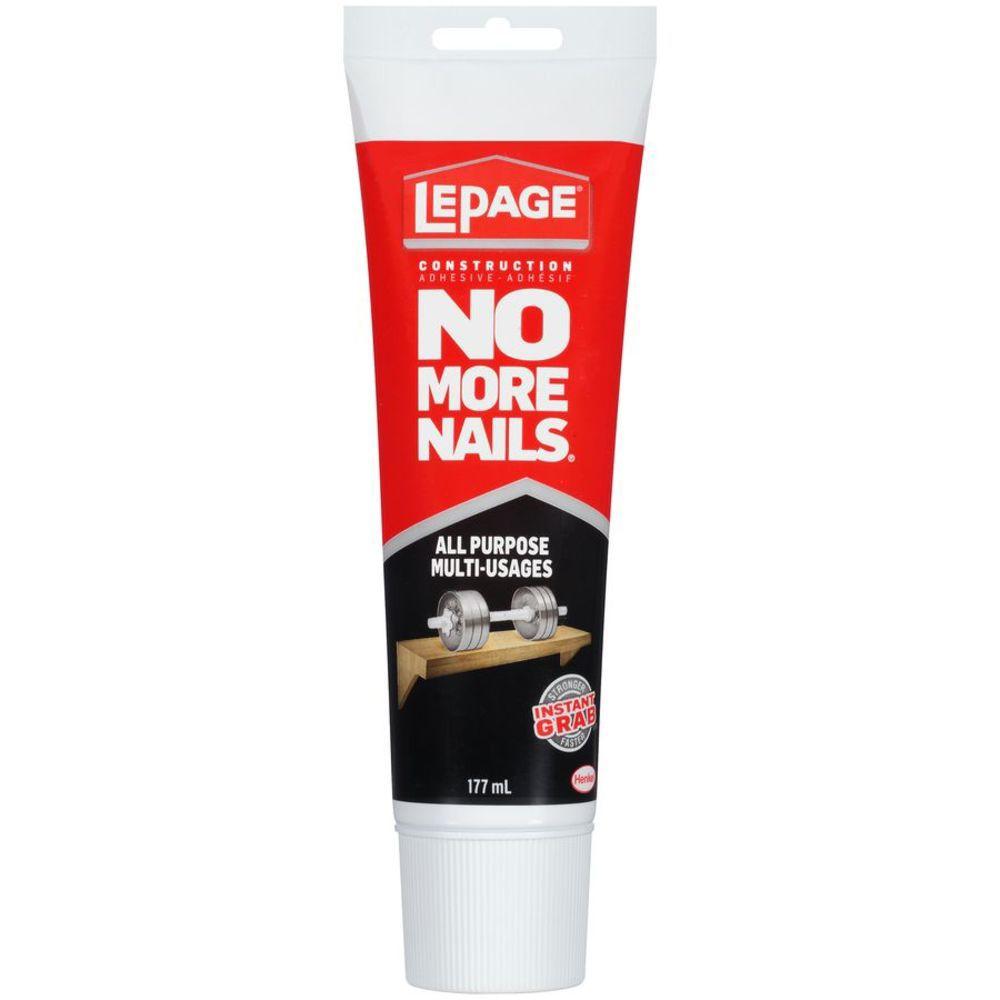 Lepage no more nails adhésif de construction transparent tout usage