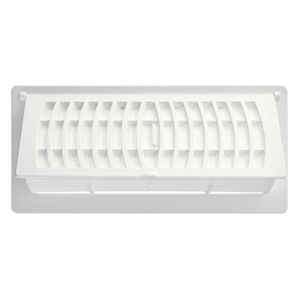 4  x 10 Registre avec déflecteur - Blanc