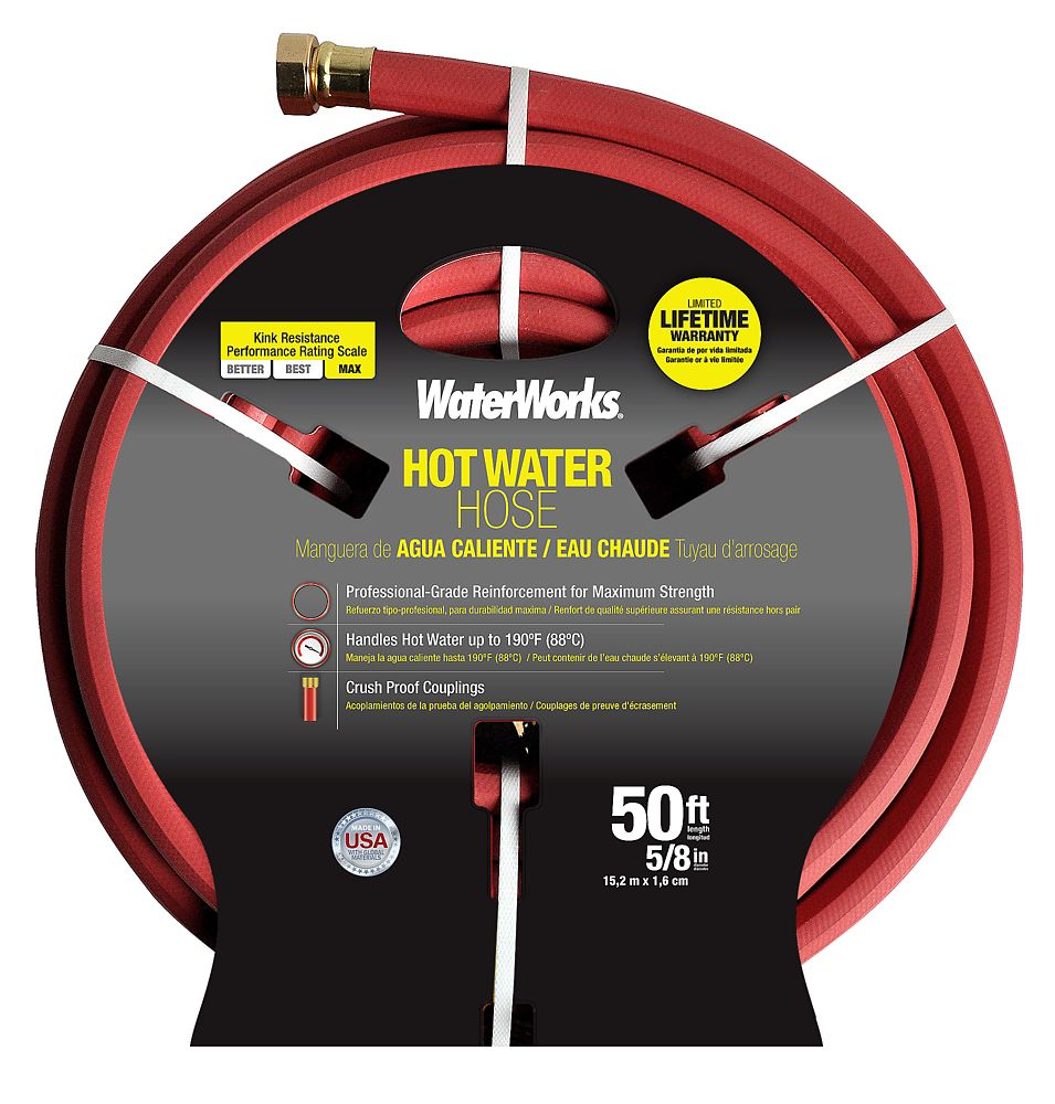 WATERWORKS Hot Water Rubber Hose � 5/8 In. X 50 Ft
