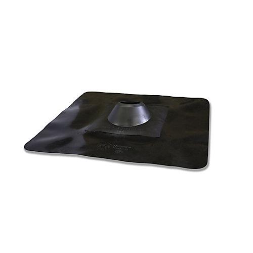 Solin rigide en plastique pour évent de toit de 3 po (base 18 po x 18 po)