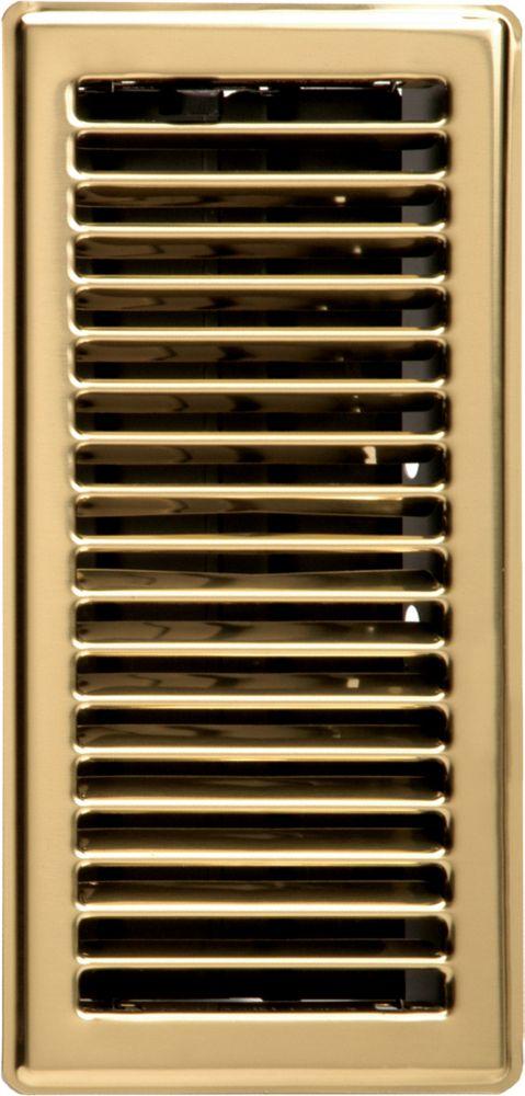 3  x 10  Floor Register - Brass