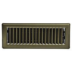HDX 3 po x 10 po Registre de plancher - Laiton vintage