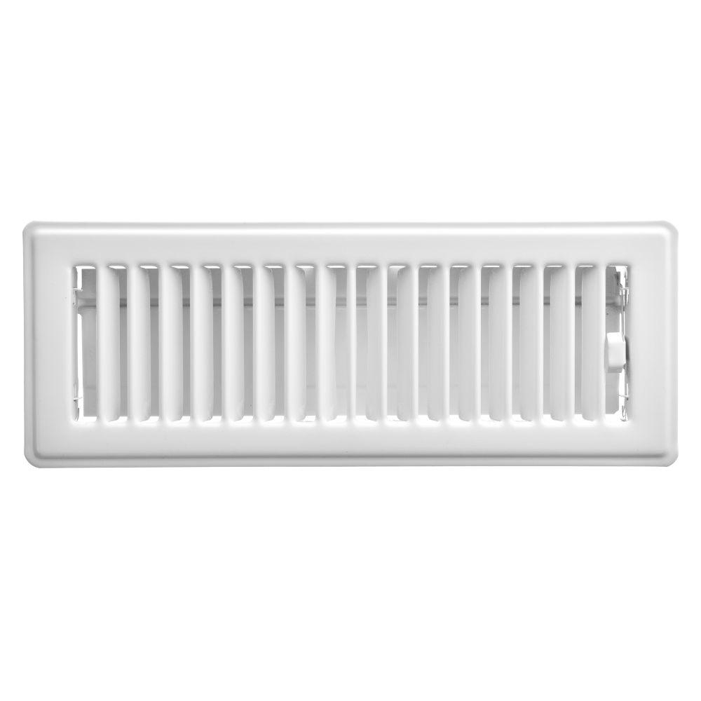3  x 10  Floor Register - White