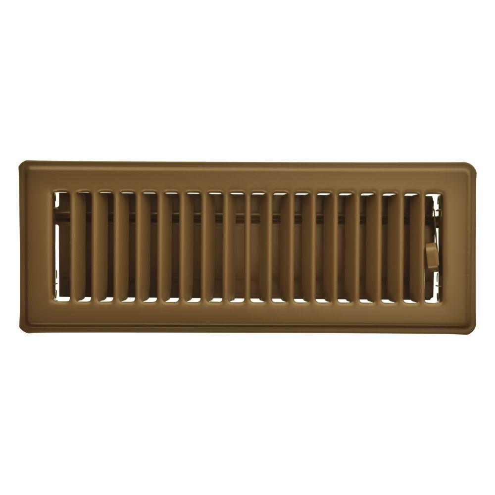 3  x 10 Registre de plancher - Brun