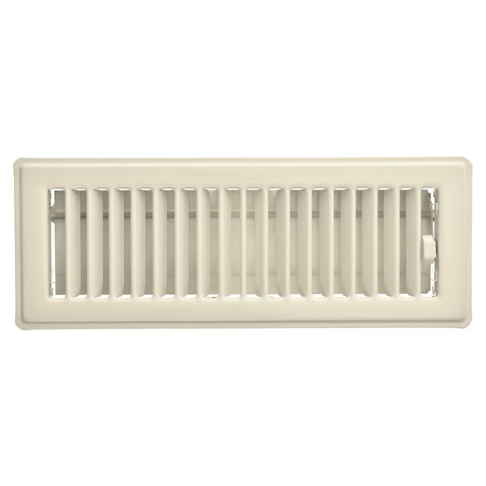 Imperial 3 x 10 floor register plastic finish almond for Floor registers