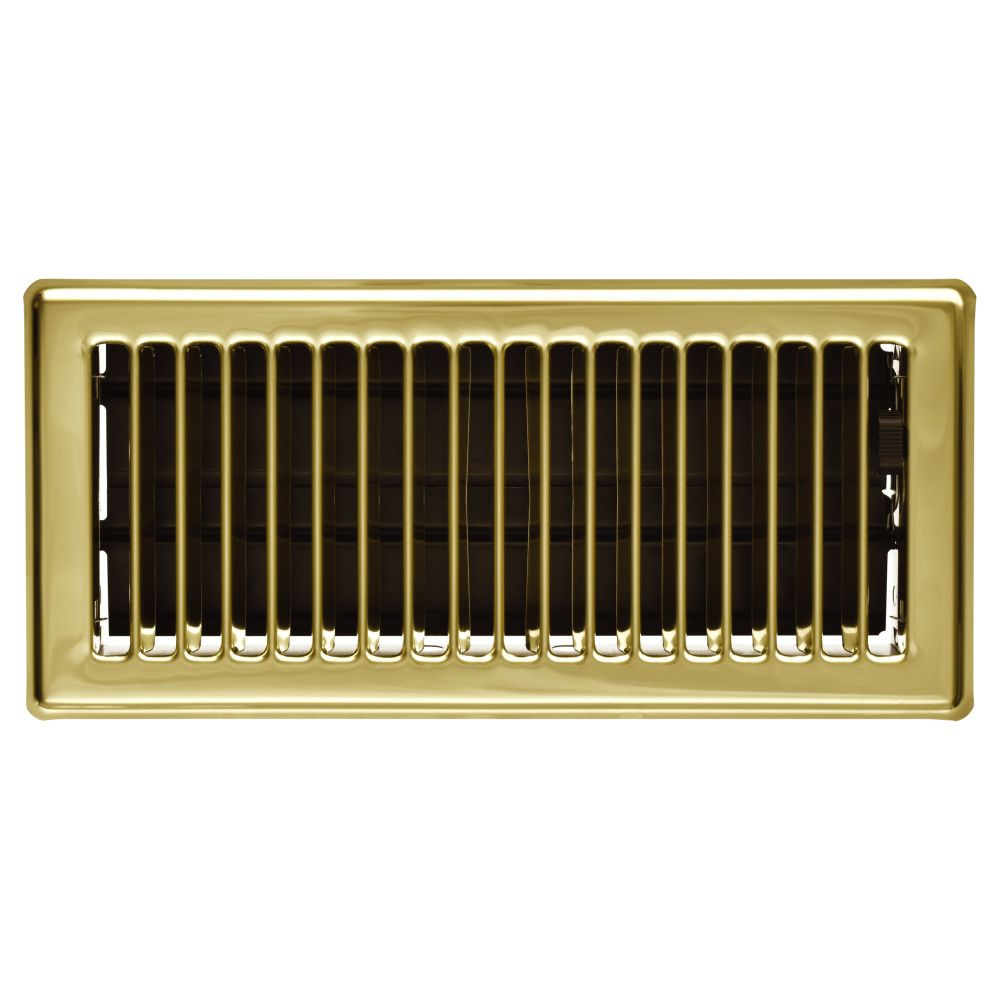Imperial 4 x10 floor register brass the home depot canada for Floor registers