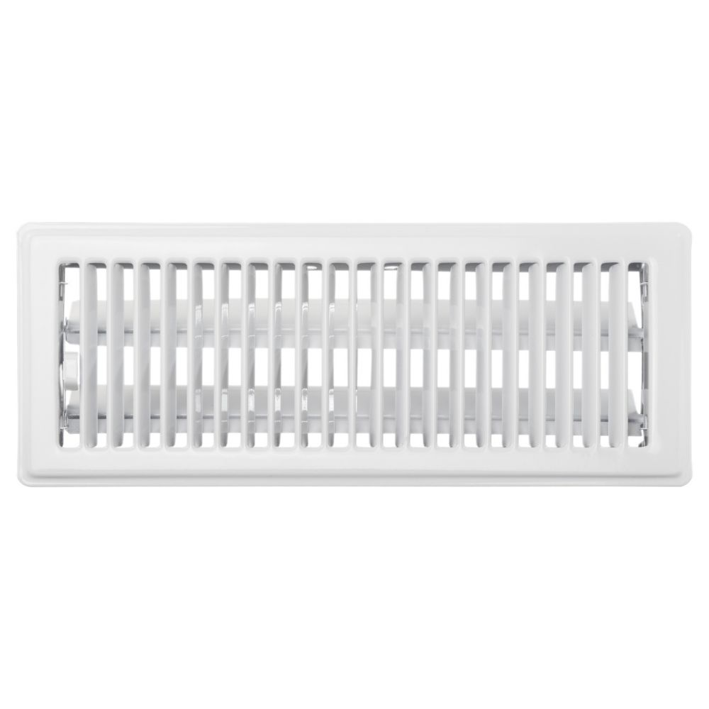 4  x 12  Floor Register - White