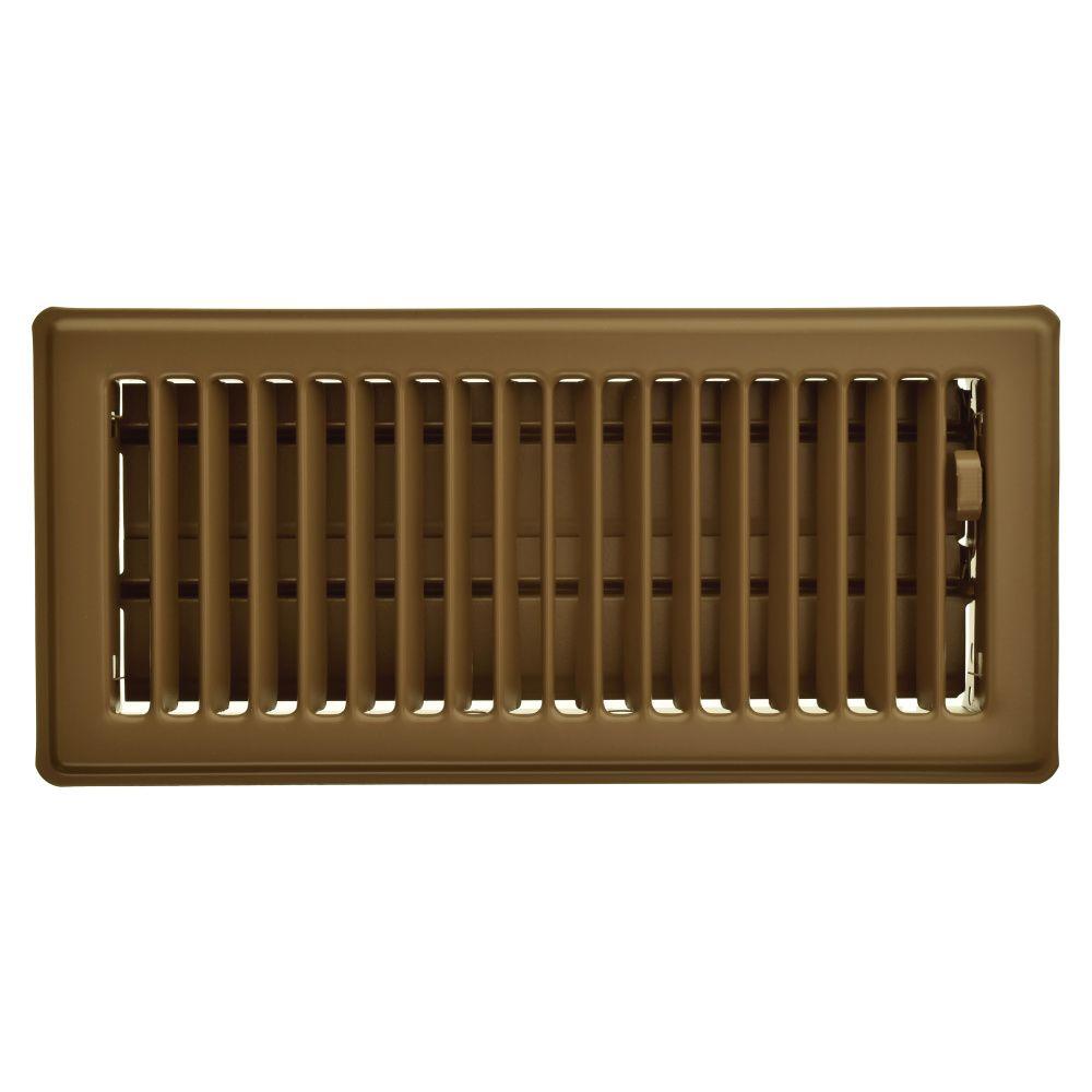 4  x 10  Registre de plancher - Brun