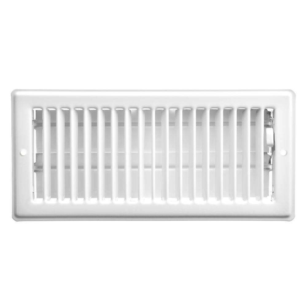 4  x 10  Ceiling Register - White