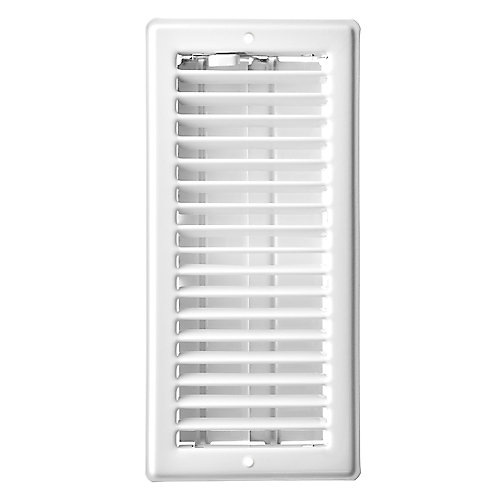 4 inch x 10 inch Ceiling Register - White