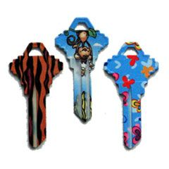 SC1 Krazy Patterned House Key