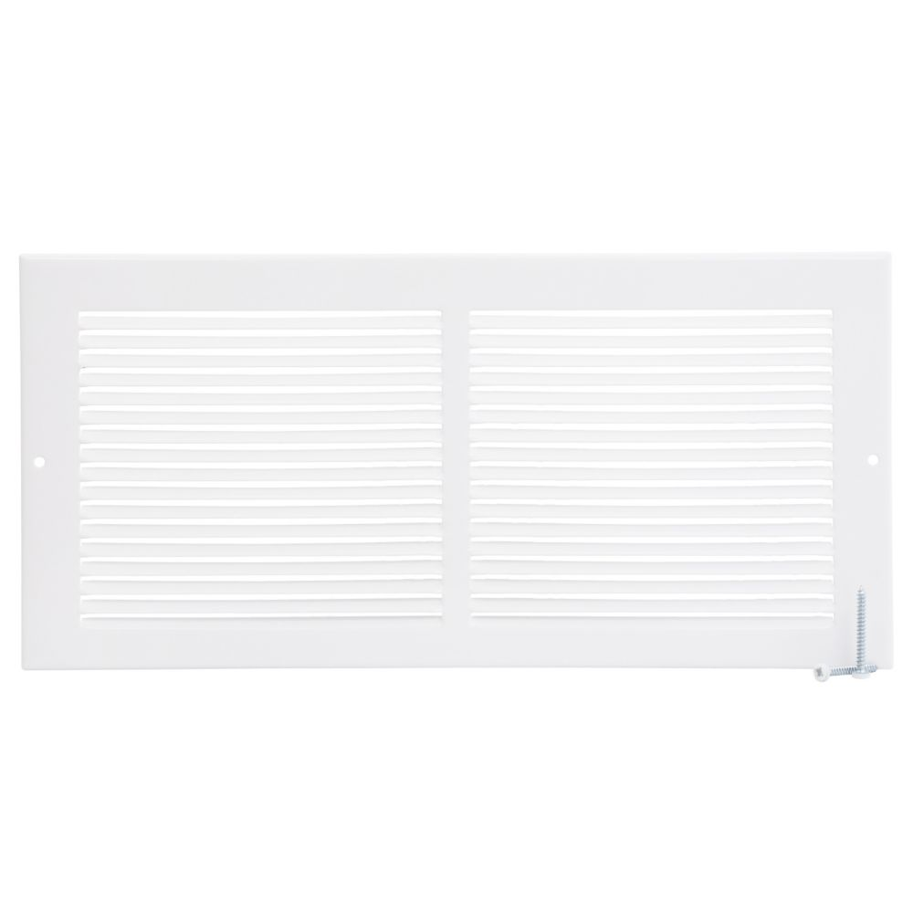 14  x 6  Sidewall Grille - White