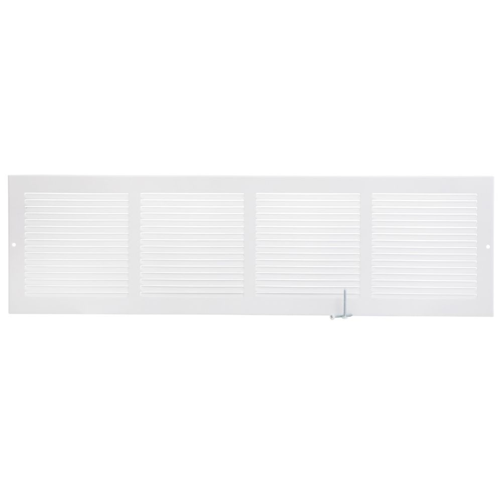 24  x 6  Grille murale - Blanc