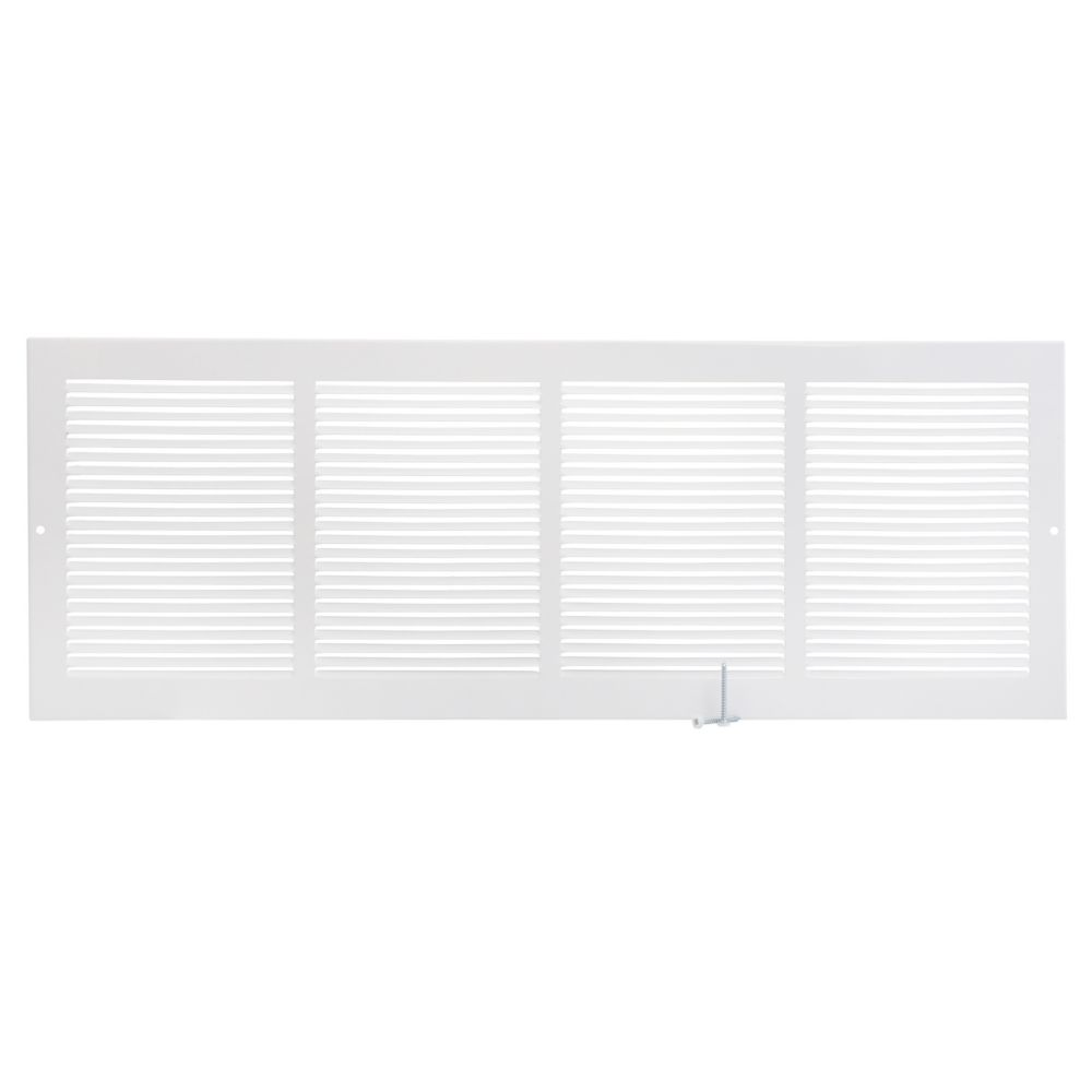 24  x 8  Sidewall Grille - White