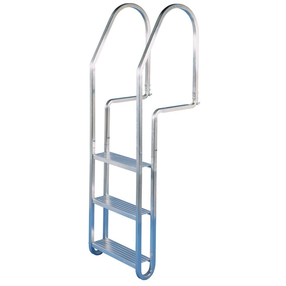 Dock Ladder, Aluminum Quick Release, 3 Step