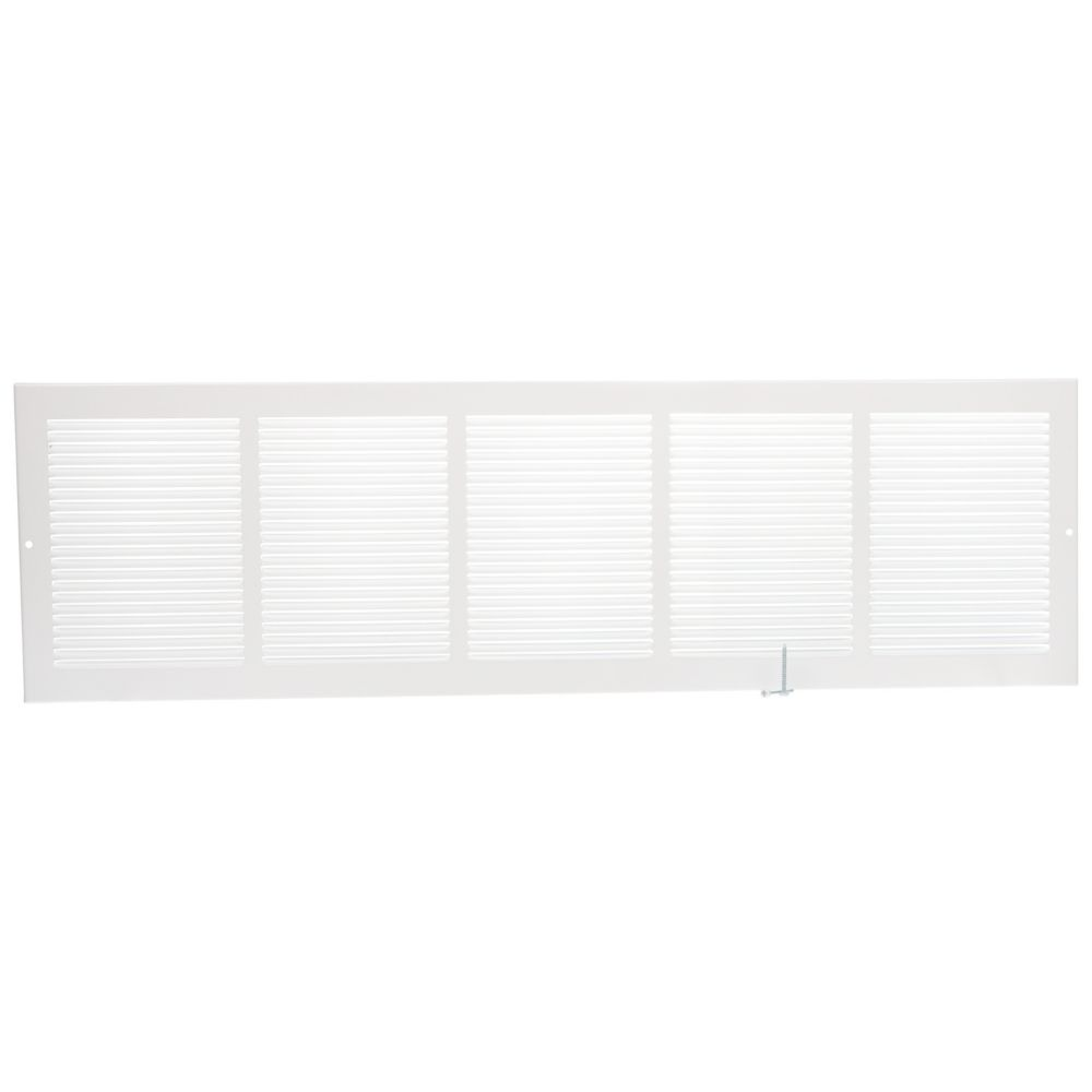 30  x 8  Grille murale - Blanc