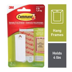 Command Sawtooth Picture Hanger with Water-Resistant Strips, 17040C