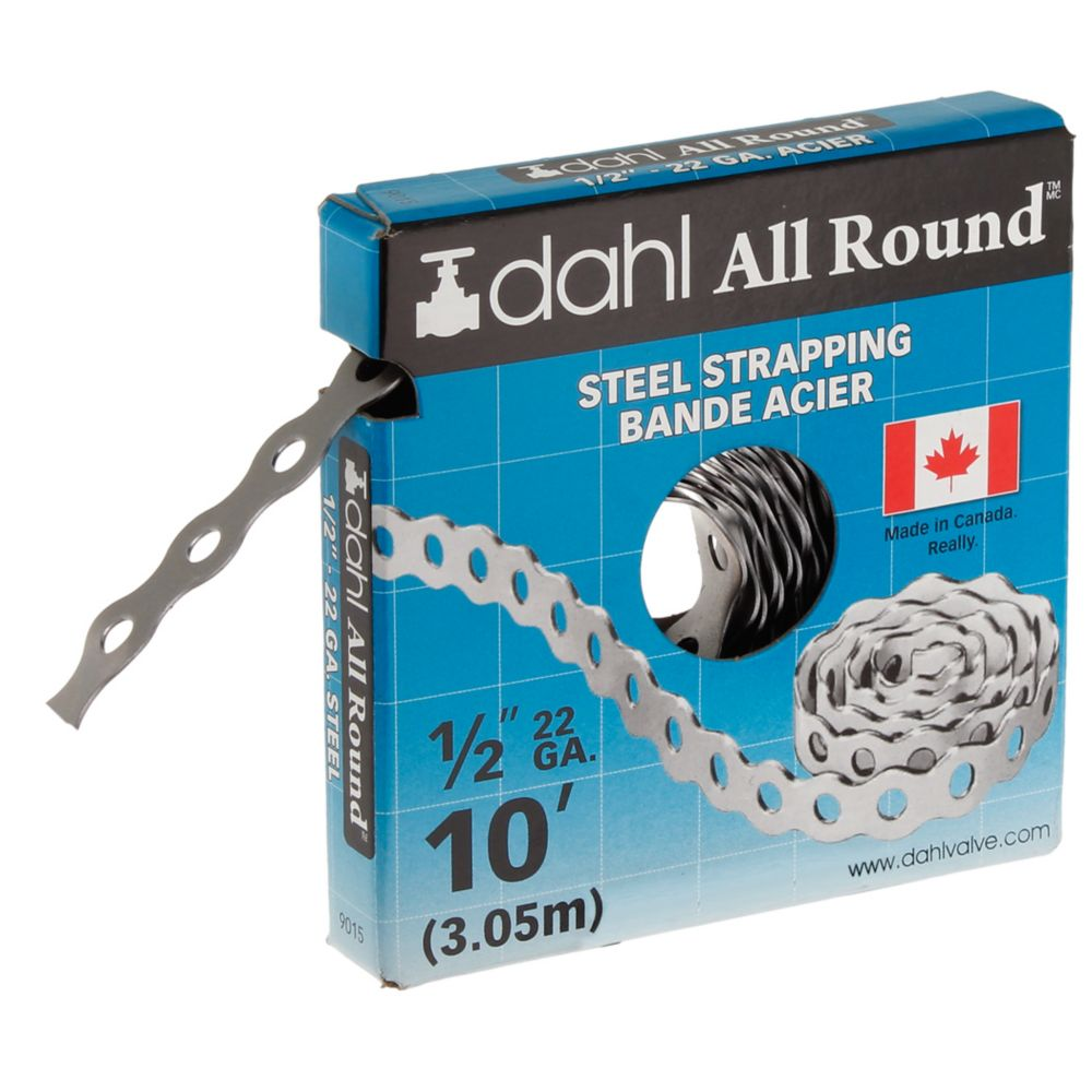 All Round Strapping, Steel, 22Ga 1/2 Inch x 10 Feet