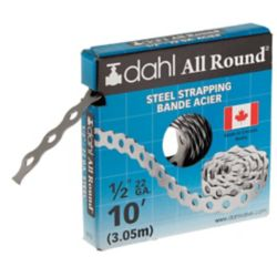 Dahl All Round Strapping, Steel, 22Ga 1/2-inch x 10 Feet