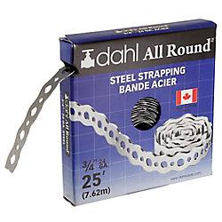Dahl All Round Strapping, Steel, 24 Gauge, 3/4 inch x 25 feet