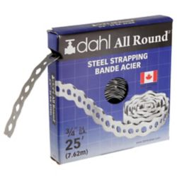 Dahl All Round Strapping, Steel, 24 Gauge, 3/4 inch x 25 feet