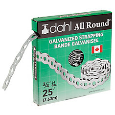 All Round Strapping, Galvanized, 24Ga 3/4-inch x 25 Feet