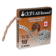 All Round Strapping, Copper, 22Ga 1/2-inch x 10 Feet