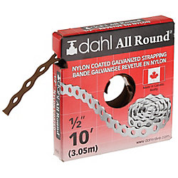 Dahl All Round Strapping, Nylon Coated, 1/2-inch x 10 Feet