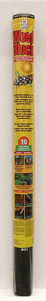 Tissu de repression des mauvaises herbes -  -  4 pi x 50 pi
