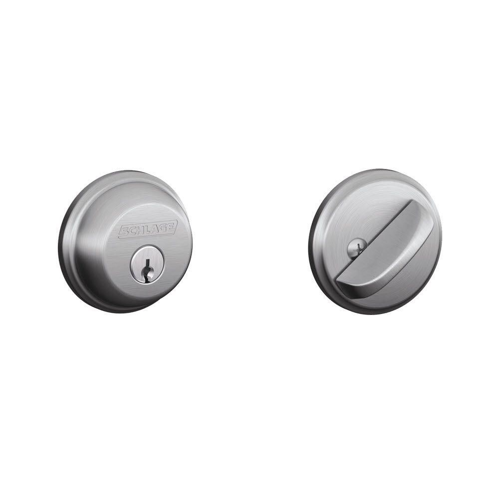 Single Cylinder Satin Chrome Deadbolt