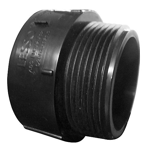 1-1/2 In. ABS Male Adapter Hub x MIPT