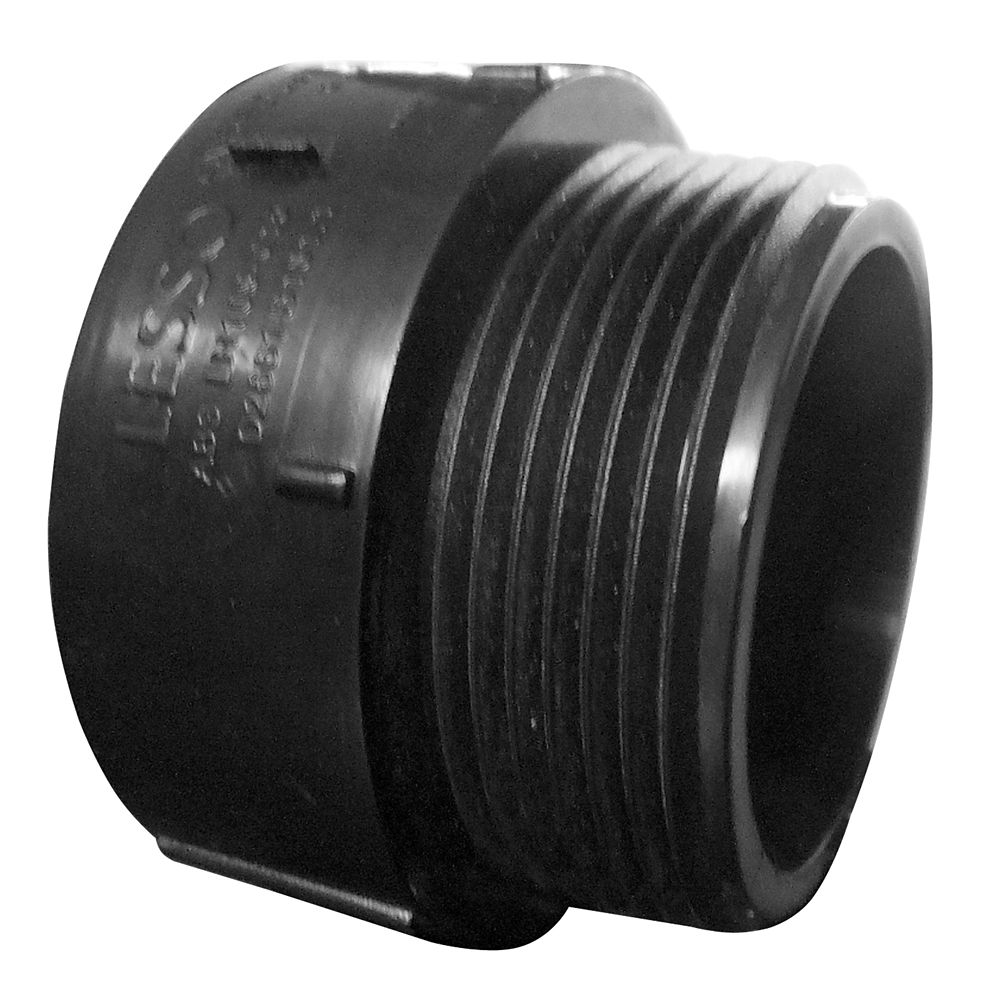 Lesso 2 In. ABS Male Adapter Hub x MIPT
