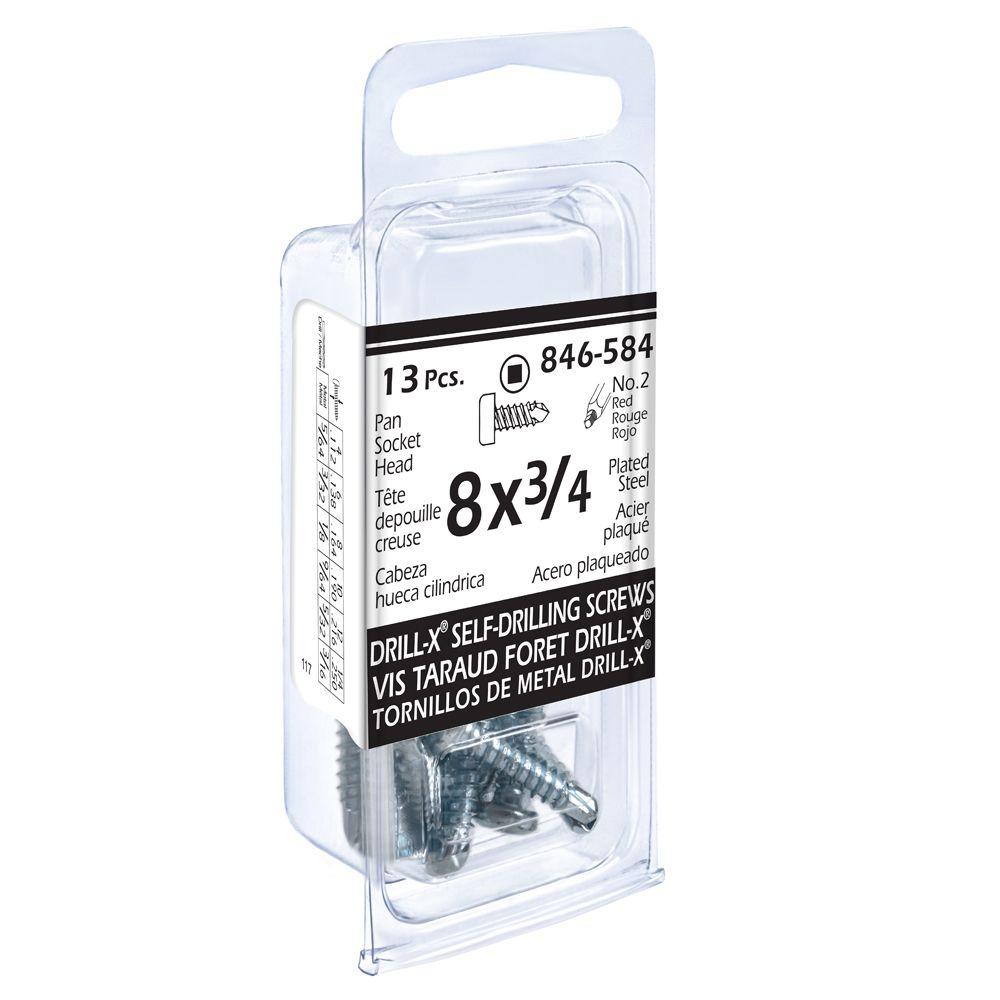 8x3/4 Pon Soc Drill x 13Pc Screw