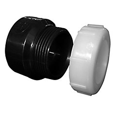 Adaptateur pour siphon (femelle x joint de dilatation et écrou de plastique)