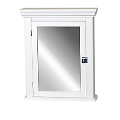 Early American 22-inch Medicine Cabinet in White