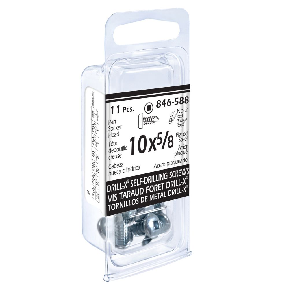 10x5/8 Vis Taraud Drill-x Depouille Creuse