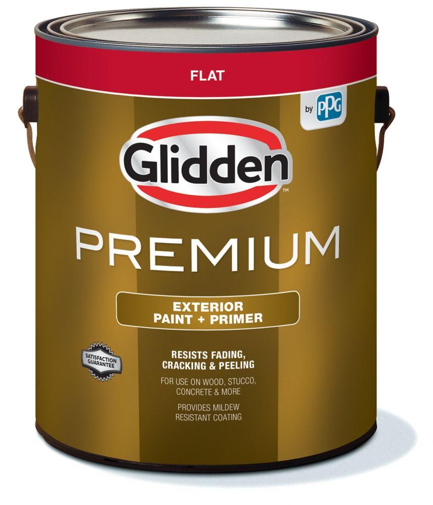 Peinture d'extérieur CIL Premium fini mat - Base blanche, 3,7 L