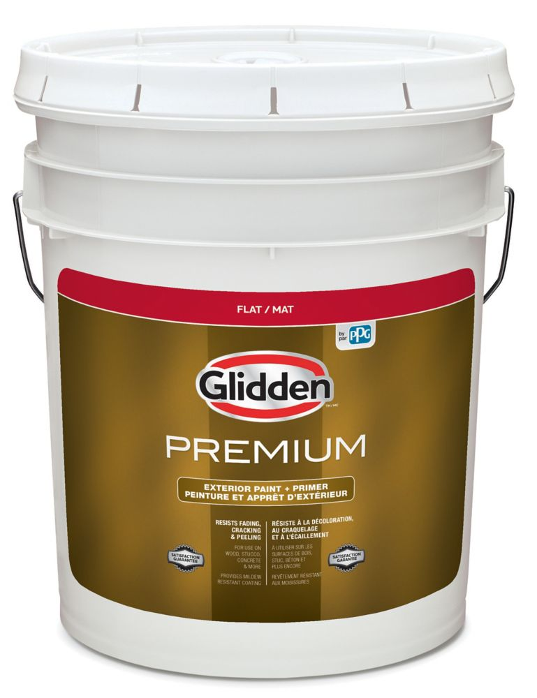 CIL Premium Exterior Flat White Base 18.5 L