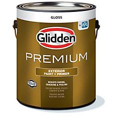 Premium Exterior Paint + Primer Gloss White 3.7 L