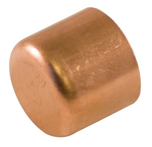 Fitting Copper Tube Cap 1/2 Inch