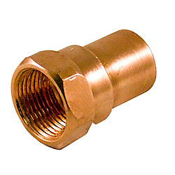 Aqua-Dynamic Fitting Copper Female Adapter 3/4 Inch Copper To Female